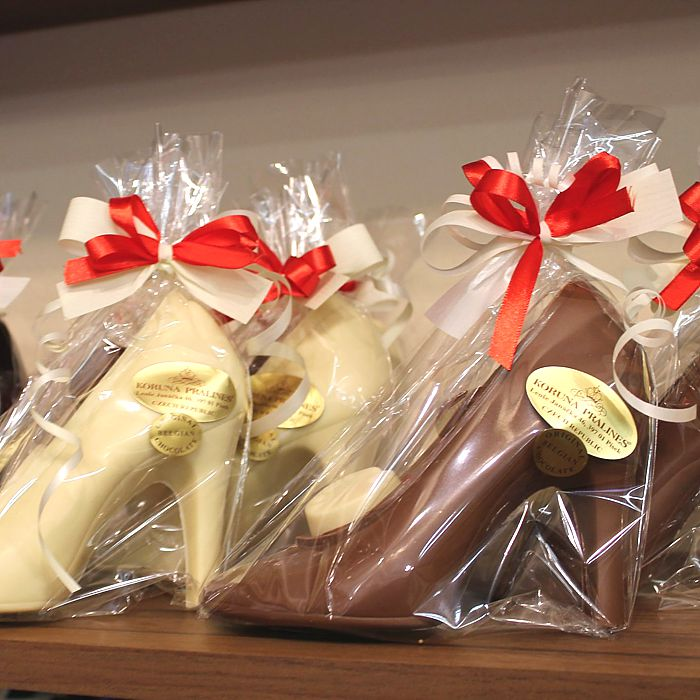 boty z belgické čokolády