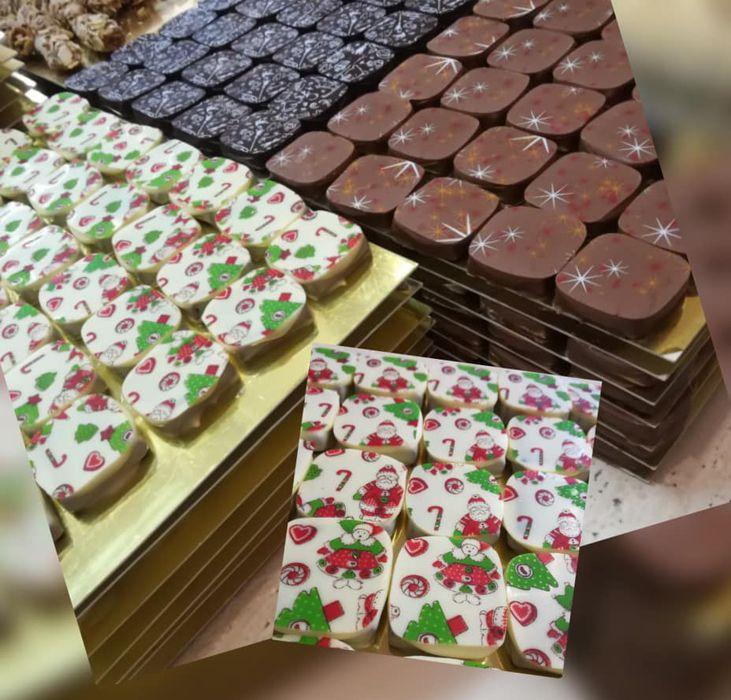 vánoční pralinky z belgické čokolády
